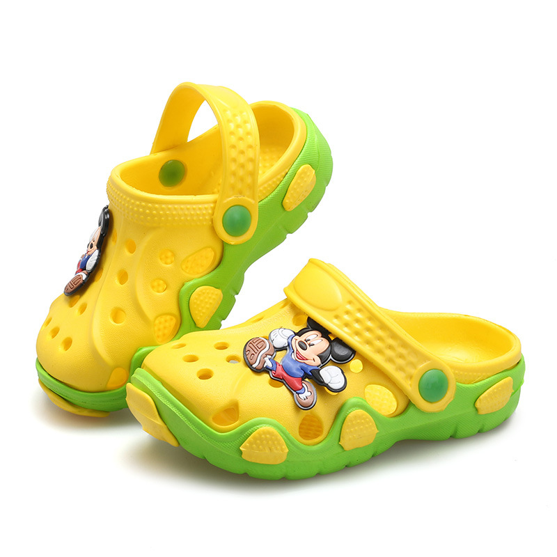 2016 Fashion Kids Summer Sandals Slippers GIrl&Boy Children Cartoon Hole Shoes Wear Non-slip Baby Sandals Garden House Shoes(China (Mainland))