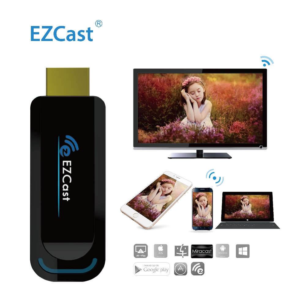 EZCast 2.4G 1080P OTA TV Stick Support Miracast DNLA Airplay Wireless Dongle HDMI Display to Moniter Screen Projector Computer(China (Mainland))