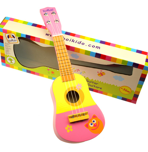 Musical instrument wooden guitar toy child musical instrument toy infant puzzle guitar musical instrument(China (Mainland))