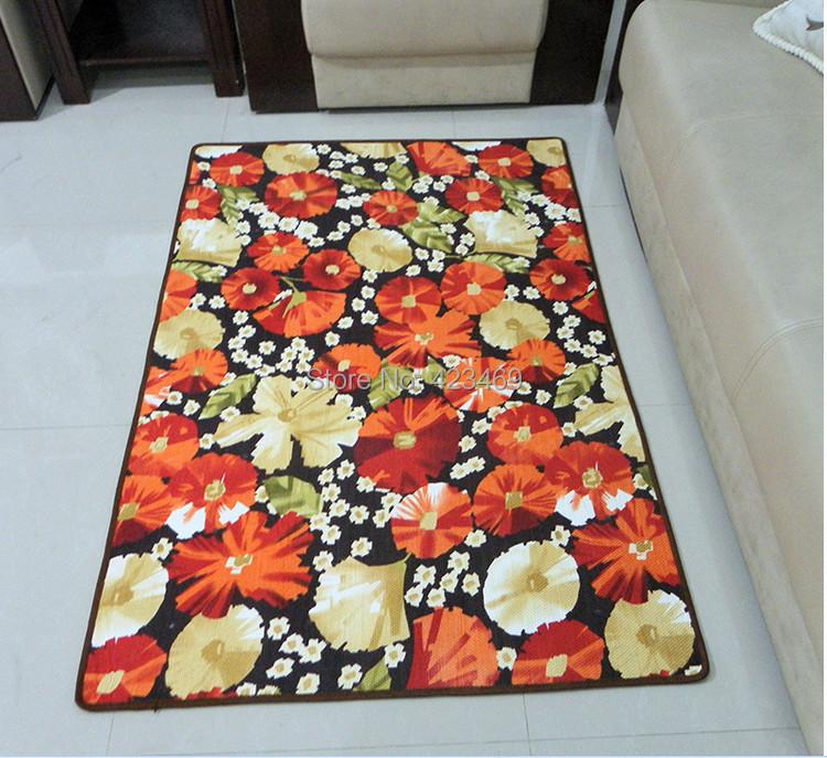 100% polyster European American country living room carpet bedroom door mats doormat custom wedding pad - Sport's goods store