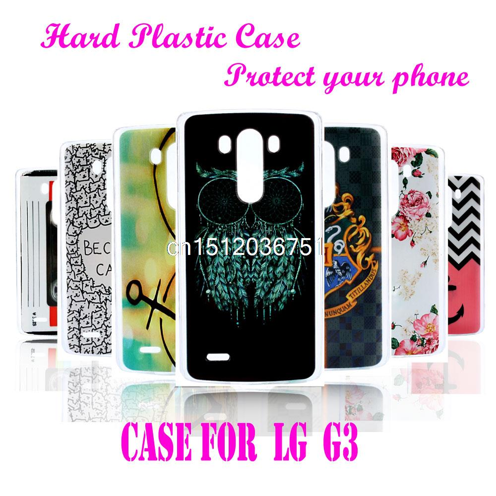 Case For LG G3 LS990 D855 D851 D850 Animal Design Kids Men High Quality Cool Owl Plastic Durable Hard Plastic Mobile Phone Cover(China (Mainland))