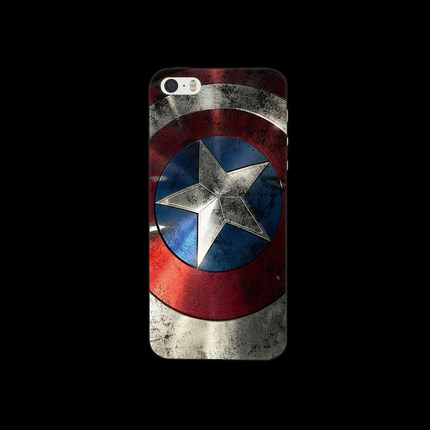 iPhone 5 5S Case Batman Captain America Logo Series PC Frosted Hard Cover Protector Mobile Phone Cases - Emma Yu Fashion Co., Ltd. store