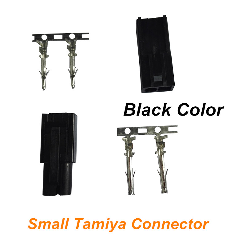1 pair Mini Tamiya Connector Small Tamiya plug with 2 Pins Lipo Battery Connector for RC Car Boat Helicopter Black Color(China (Mainland))