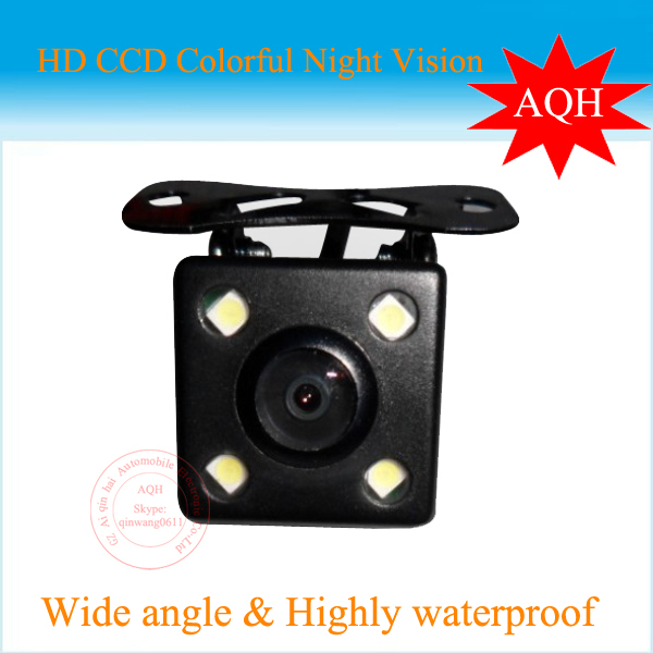 CCD HD night vision car rear view camera rear camera for all cars Universal camera with LED lights For all modes of cars(China (Mainland))