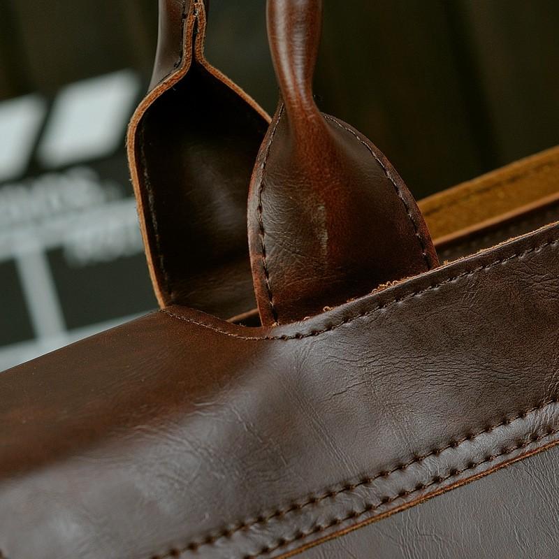 Vintage Men Business Faux PU Leather Briefcase Male Travel Causal Messenger Shoulder Portfolio Laptop Bags Lawer Handbag Bolsa (17)