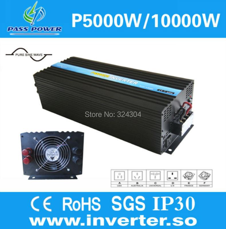 Off grid Pure Sine Wave Solar/wind Power Inverter 5000W/5kw DC 48V TO AC 240V+ One Year Warranty(China (Mainland))