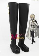 Anime Seraph of the End Mikaela Hyakuya Cosplay Shoes High Boots Custom-made