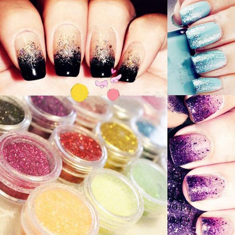 12 Color Mix uv Gel Glitter