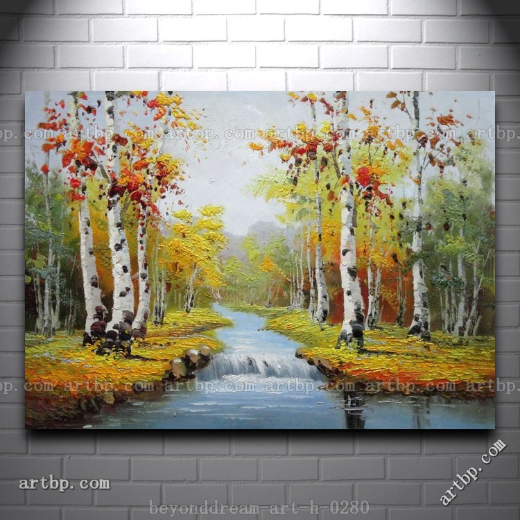Oil Paintings of Birch Trees Birch Trees Landscape Oil