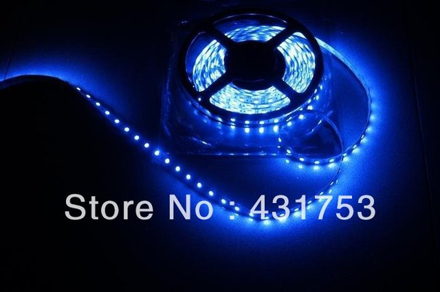 (Waterproof) 10m/lot 3528 5m 300 leds SMD Led Strip 60 Led per meter White/Warm white/Blue/Green/Red/Yellow (Free shipping)