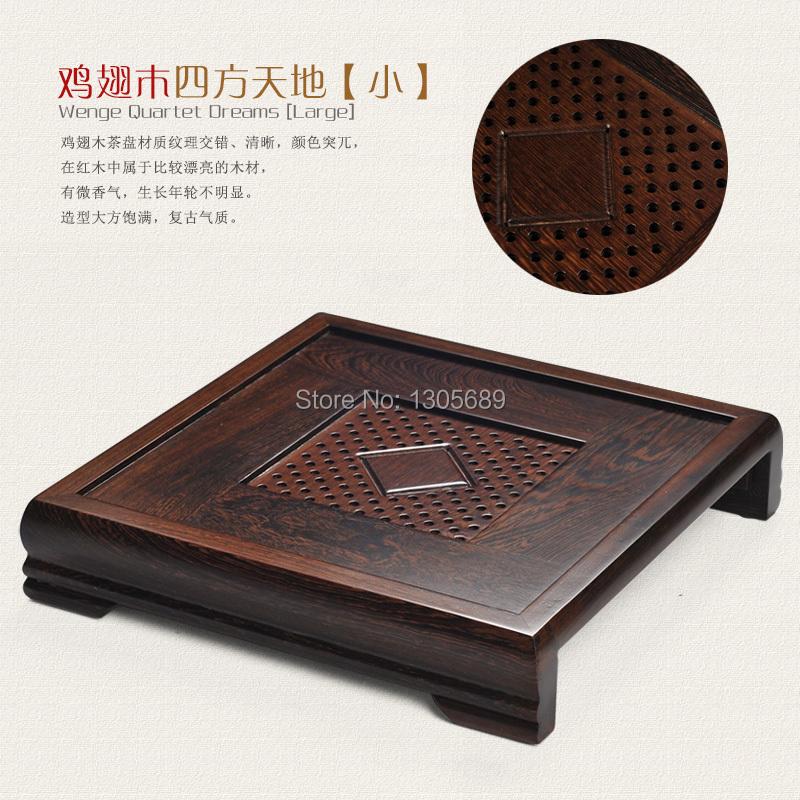 Здесь можно купить  Chinese Square Wenge tea tray table tea set accessories solid wood tea tray Length 35 cm width 35 cm height 6.8 cm on sales  Дом и Сад