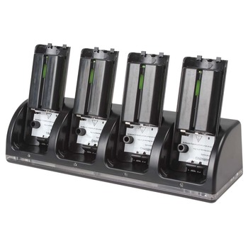 hot 2015 New 4 x 2800mAh Rechargeable Battery Packs + Charger Dock Stand Station for Nintendo WII Remote