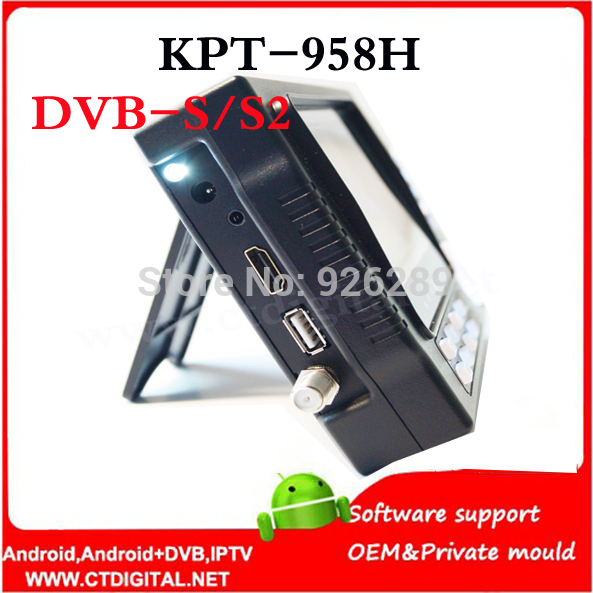 2016 NEW Kangput KPT-958H 4.3 inch DVB-S/S2 TV Receiver sat meter Portable Multifunctional HD Satellite Finder Monitor MPGE4