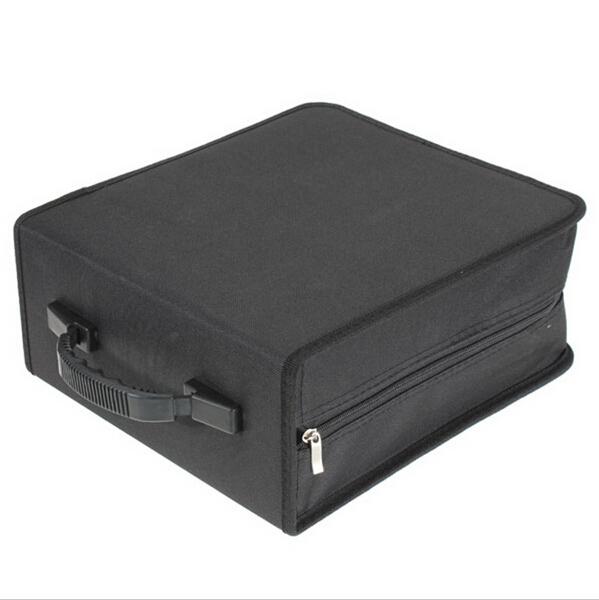 Black 320 Capacity Disc CD DVD Storage Bag Carry Case Durable