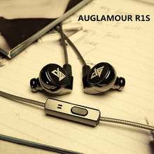 DIY AUGLAMOUR R1S R1Si Wired Metal Earphones HIFI Stereo Headset 3.5MM in-ear For Samsung iPhone xiaomi