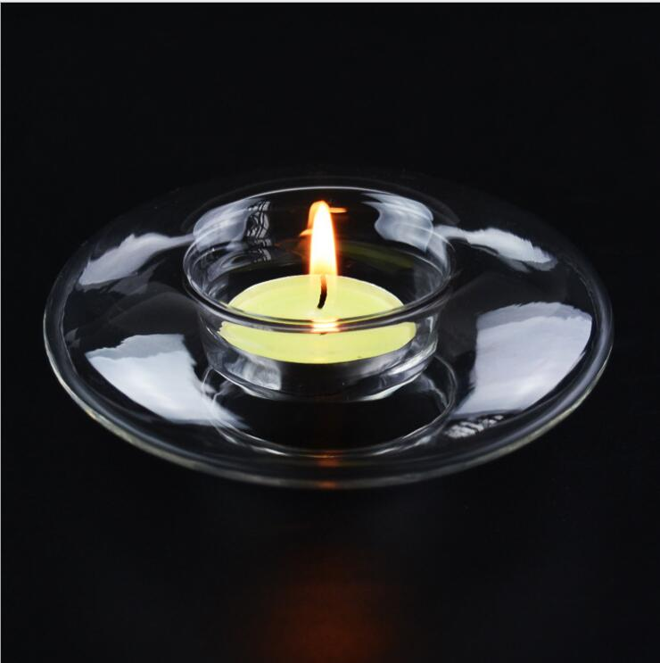 Pure Manual Heat-resistant Glass Candlestick European Round Crystal Candlestick The Adornment That Occupy The Home(China (Mainland))