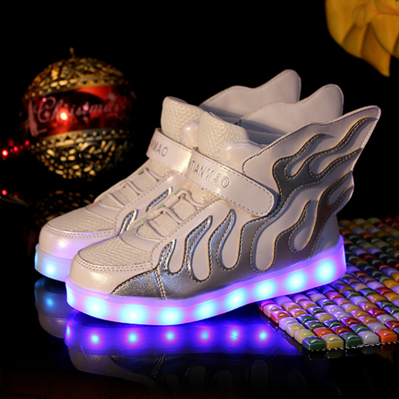 2016 New Cool Fashion Lighted up LED basket kids Elegant Lovely baby boys girls shoes cool children boots<br><br>Aliexpress