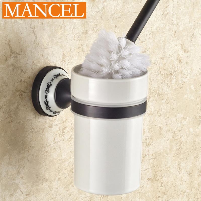 mancel ceramic toilet brush set bathroom accessories cup. Black Bedroom Furniture Sets. Home Design Ideas