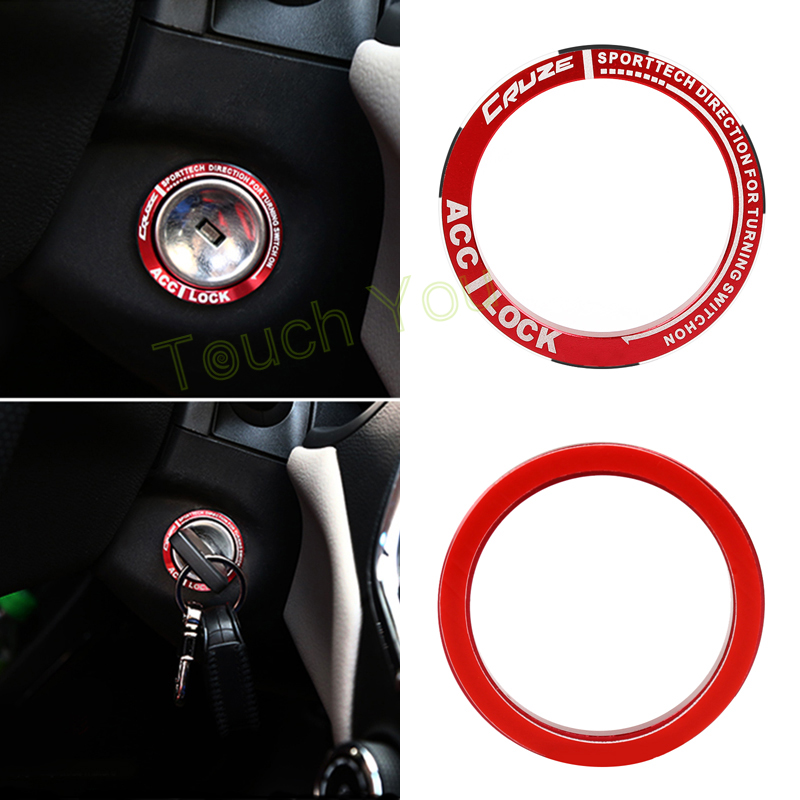 DIY Luminous Alloy Car Ignition Switch Cover Auto Car Accessories Stickers For Cruze Car Styling Decoration(China (Mainland))