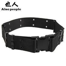 Military Field Tactical Accessories Tactical for military uniforms Belt Military Equipment Strengthening Black Canvas(China (Mainland))