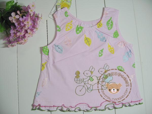 5614 100% cotton infant child vest female spaghetti strap top(China (Mainland))