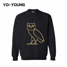 Yo-Young Mens Casual Cotton Sweatshirt OVO Drake Owl Printed chandal hombre moleton masculino Quality Customized(China (Mainland))
