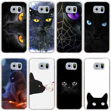 Buy 42GH black cat Hard Cover Case for Samsung Galaxy S3 S3 Mini S4 S4 Mini S5 Mini S6 S6 edge&plus S7 S7 Edge S8 plus for $1.30 in AliExpress store