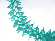 Buy 11ft=3.3m 3pcs/lot Light Teal Flowers Hanging Paper Garland Tissue Decorations Bridal Shower Birthday Party Favors for $5.07 in AliExpress store