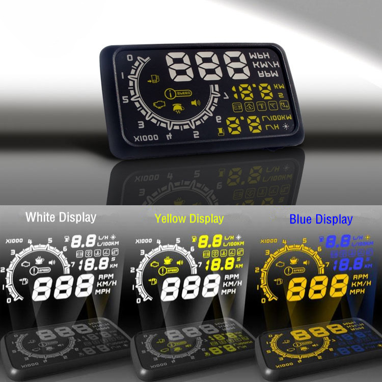 2016 New Arrival Car OBD Vehicle Driving Computer Car Fuel Consumption / Speed / Water Temperature 3 Colors HUD Head Up Display(China (Mainland))
