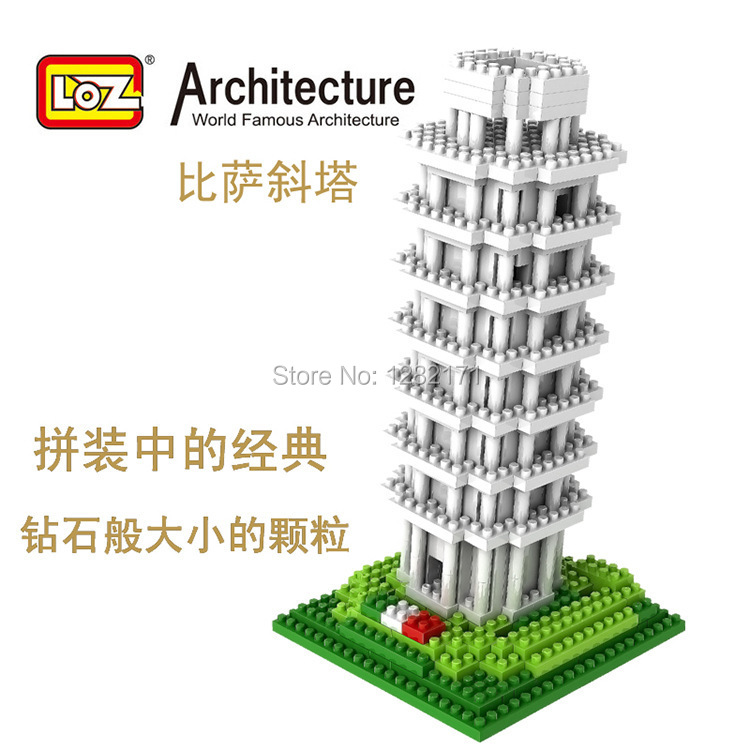 Hot sale LOZ  building blocks The world famous architecture series  9367 The Leaning Tower of Pisa 560pcs<br><br>Aliexpress