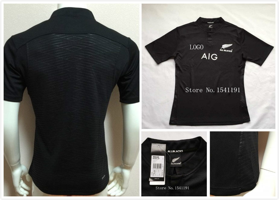 New Zealand All Blacks Rugby Jersey Shirt 2015 Mens RWC All Blacks Rugby Jersey best quality clothing 15/16 all blacks S-2XL(China (Mainland))