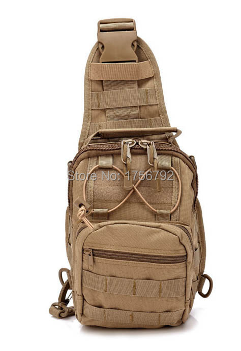Multi Solid Nylon shoulder Bag chest wearproof Unisex Outdoor Sport Tool Climbing Hiking travel Military Tactical Messenger(China (Mainland))