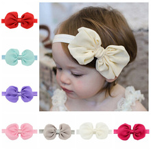 "Buy 4.5"" 12 Colors Chiffon Bowknot Teens Girls Headbands Elastic Hair Bands Child Kids Headbands Bow Band Hair Accessories Newest for $1.03 in AliExpress store"