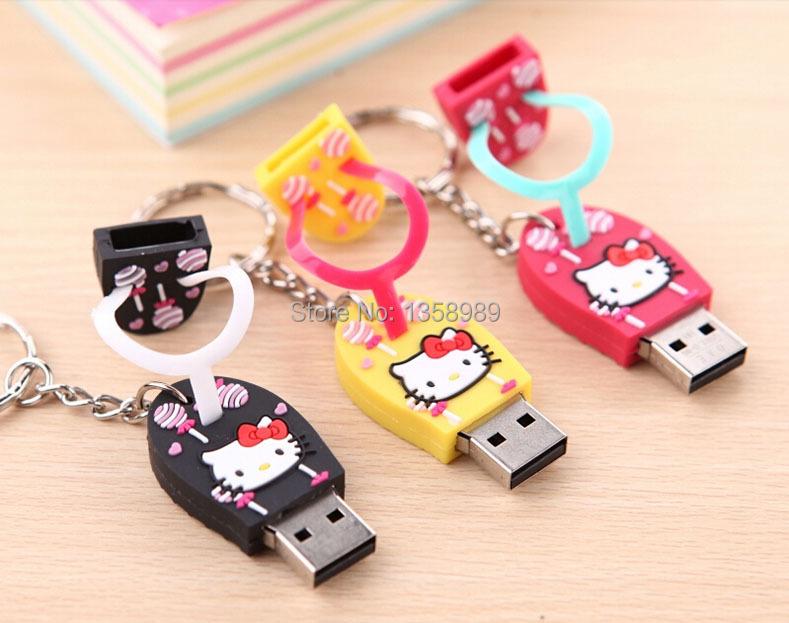 100% real capacity Slippers Pen Drive Cartoon hello kitty gift 4GB 8GB 16GB 32GB tom cat Usb Flash Drive Pendrive Free Shipping(China (Mainland))