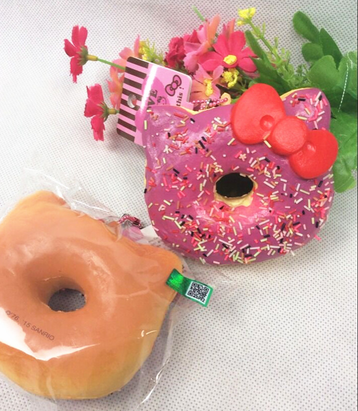 Rare Squishy Package : Aliexpress.com : Buy original package rare hello kitty donut Squishy cell phohe Strap Charm 8 ...