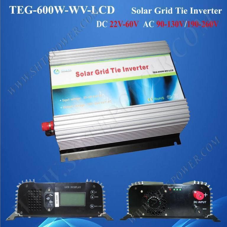 Excellent design dc 24v to ac 100v mppt on grid tie 600w sun power inverter(China (Mainland))