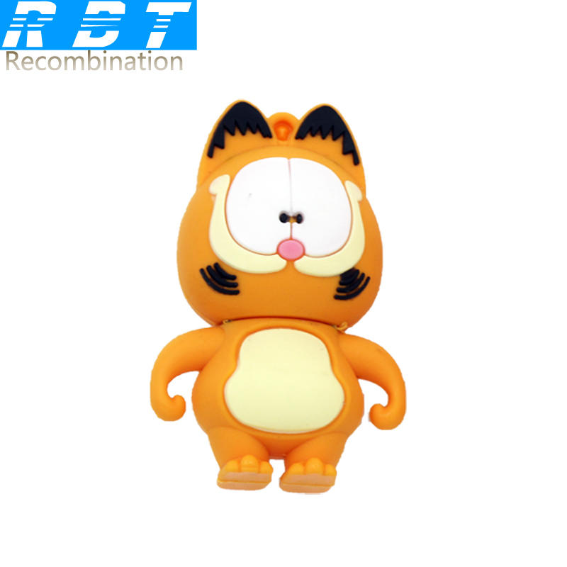 2015 RBT Real Capacity High Speed Garfield The Cat 8GB 16GB 32GB Pen Drive Pendrive USB Flash Drive For PC Free Shipping(China (Mainland))