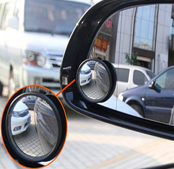 Car Wide Angle Round Vehicle Mirror Blind Spot RearView For Ford Fiesta Ford Focus Peugeot Citroen VW Opel Skoda Toyota Corolla(China (Mainland))