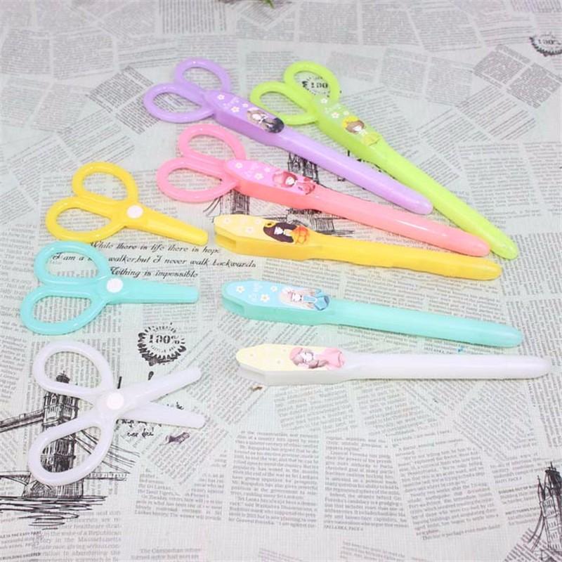 Beautiful Girl Creative Stationery Korean Gel Pens Small Scissors Kawaii Writing Pen Office School Supplies Caneta Papelaria 05