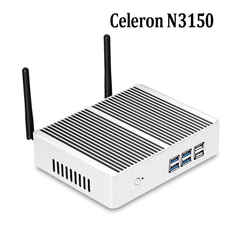2017 celeron n3150 Mini PC Windows 10 Mini Computer HDMI WiFi nuc mini pc linux metal case support touch screen Desktop PC(China (Mainland))