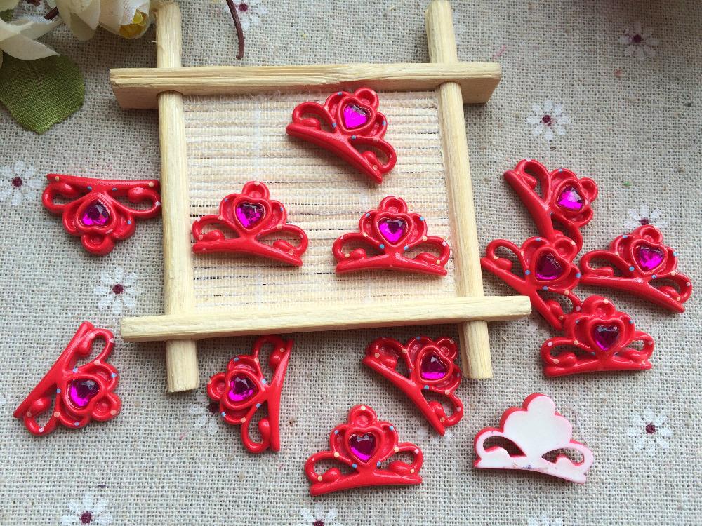Free shipping! Flat back resin Crown jewels kawaii cartoon hair bow center phone DIY decoration(mix50pcs 26*19mm)(China (Mainland))
