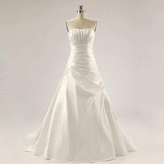 Нежный бальное платье Жилетidos Novia белый кристаллический женщины свадебные платья ...
