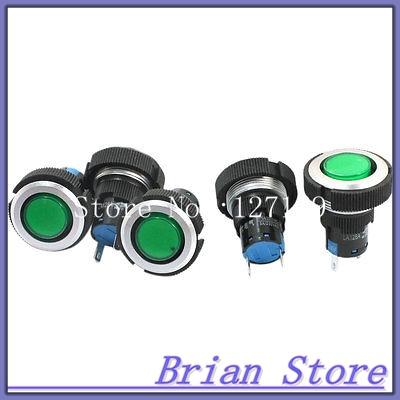 24V 22mm 2 Pins Plastic Green Signal Indicator Light Pilot Lamp 5 Pcs<br><br>Aliexpress