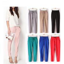 New Women Girls Cool Summer Soft Chiffon Harem Pants Trousers leggings Loose Elastic Casual Solid Hot