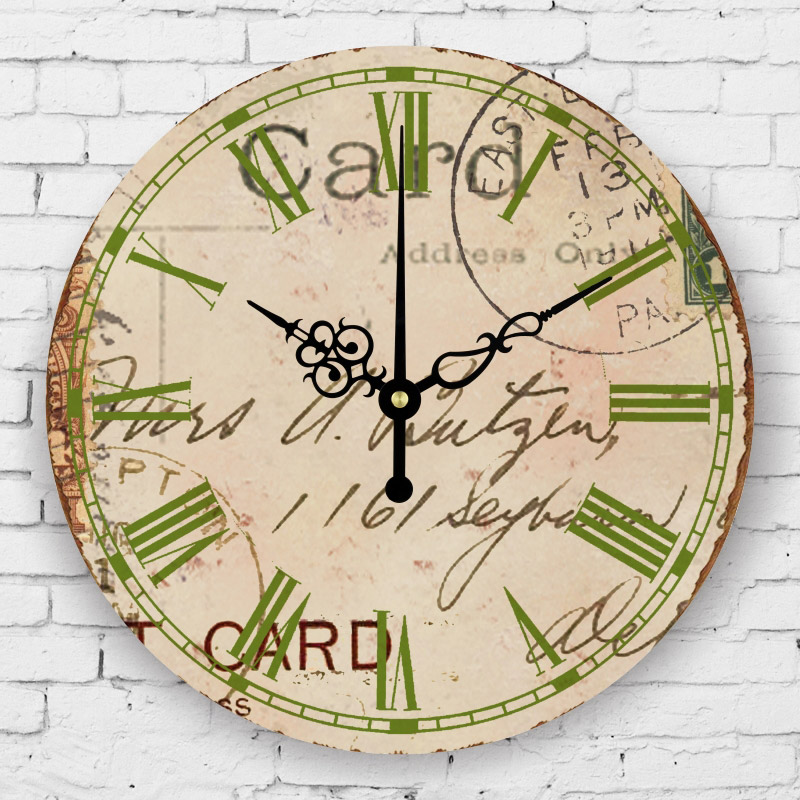 Bedroom Decorative Wall Clock Roman Number Silent Wall Clock Vintage Home Decor Southeast Asia
