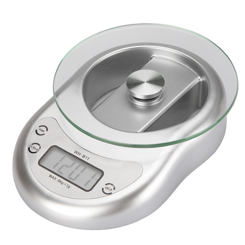 5kg 1g kitchen scale led glass baking scale tea herbs for Best kitchen scale for baking