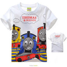Buy T-shirt Thomas train lovely friends pattern boys clothing Short Sleeve cotton Thomas boys clothes children t shirts for $8.74 in AliExpress store