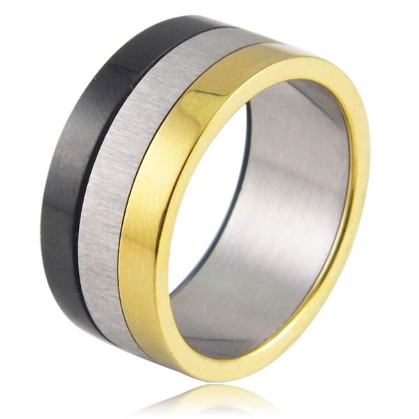 Fashion Women Jewelry 316L Stainless Steel Rings Glazed Exaggerated Wide Slippy 3 Color Casual Party Ring For Men/Women(China (Mainland))