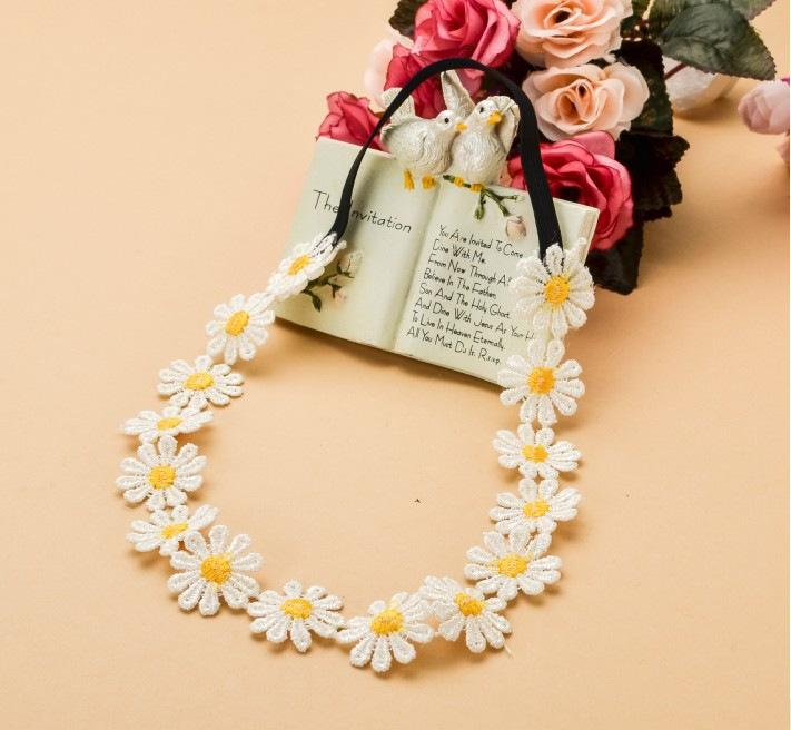 Stylish BOHO headband design with floral flower hair accessory for women girl headband sunflower headband Free shipping 16pcs(China (Mainland))
