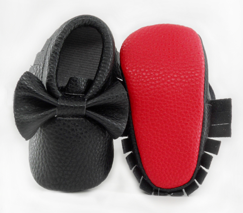 New Red sole PU Leather Newborn Baby Boy Girl Baby Moccasins Soft Moccs Shoes Bebe Fringe Soft Soled Non-slip Footwear Crib Shoe(China (Mainland))